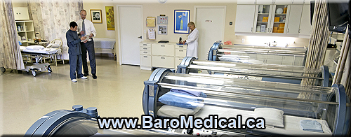 BaroMedical Hyperbaric Oxygen Clinic - four monoplace chambers